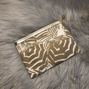 Lilly Pulitzer white and gold clutch